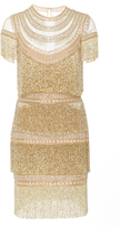 Naeem Khan Embellished Tulle Mini Dress
