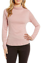Westbound Rib Turtleneck Long Sleeve Solid Top