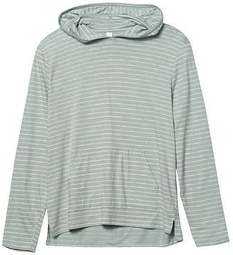 Alternative Heavy Wash Marathon Pullover (Capri Blue Drip Stripe) Clothing