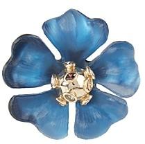 Alexis Bittar Sputnik Crystal & Multicolor Stone Flower Pin