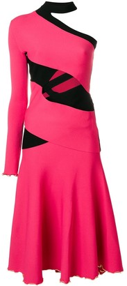 Proenza Schouler One Sleeve Bandage Knit Dress