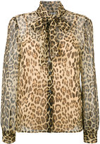RED Valentino pussy-bow leopard blouse - women - Silk - 42