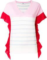 Blugirl ruffle trim fine knit T-shirt