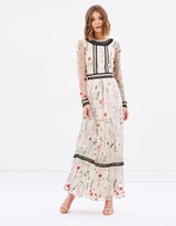 Miss Selfridge Embroidered Sleeve Column Maxi Dress
