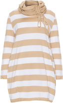 Isolde Roth Plus Size Striped jumper with scarf