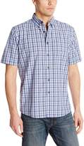 Wrangler Men's Authentics Men's Short Sleeve Plaid Woven Shirt