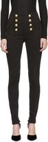 Balmain Black High-Rise Buttoned Jeans