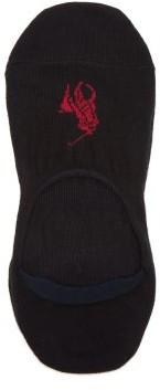 Polo Ralph Lauren Pack Of Three Cotton-blend Liner Socks - Black