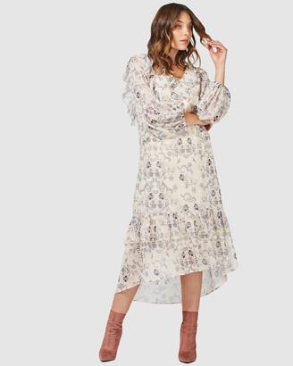 Three of Something Canyon Floral Midi Dress