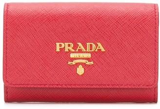 Prada logo plaque card holder