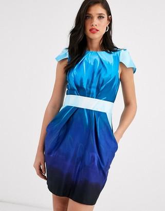 Closet London Closet capped sleeve tulip mini dress