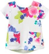 Joules Floral Crewneck Top - White, Size 18-24