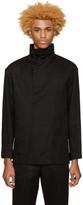 Issey Miyake Black Draped Collar Shirt