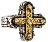 Konstantino Diamond Cross Cocktail Ring