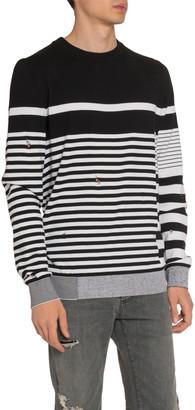 Balmain Men's Mariniere Striped Crewneck Sweater