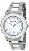 BCBGMAXAZRIA Women's BG8267 Analog Essentials White Glossy Dial Watch