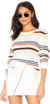 Autumn Cashmere Multi Stripe Textured Crew