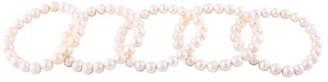 Masako 9-10MM White Freshwater Pearl Stretch Bracelet Set