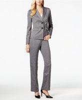 Le Suit Two-Button Herringbone Pantsuit