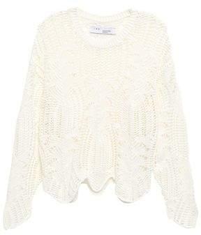 IRO Open-knit Cotton-blend Sweater
