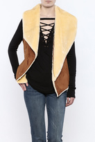 Sioni Two Tone Faux Shearling Vest