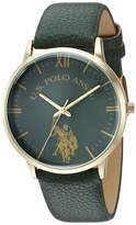 U.S. Polo Assn. Women's Quartz Metal and Leather Watch