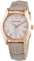 Emporio Armani Women's Classic AR1670 Beige Leather Analog Quartz Watch with Dial