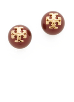 Tory Burch Crystal Imitation Pearl Stud Earrings