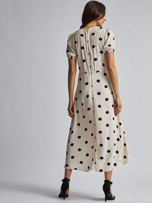 Dorothy Perkins Spot Tea Dress - Cream