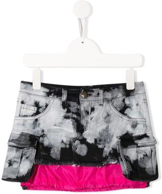 Cinzia Araia Kids Extended-Hem Tie-Dye Mini Skirt