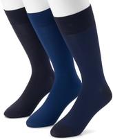Marc Anthony Men's 3-pack Birdseye Textured Microfiber Dress Socks
