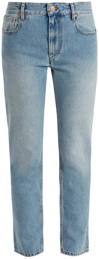 Etoile Isabel Marant Cliff high-rise straight-leg cropped jeans