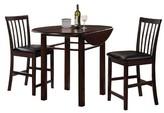 Acme Artie 3 Piece Counter Height Dining Set - Espresso