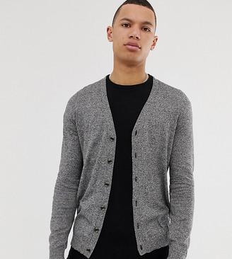Asos Design DESIGN Tall cardigan in black cotton-Grey