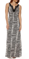 Ronni Nicole RN Studio by Sleeveless Aztec Print Maxi Dress