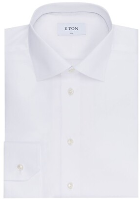 Eton Slim Fit Cotton Twill Shirt