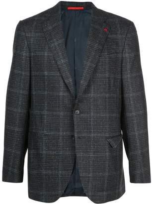 Isaia plaid wool blazer