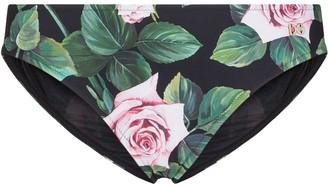 Dolce & Gabbana Rose Print Bikini Briefs