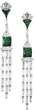 Adriana Orsini Women's Azlyn Rhodium-Plated Sterling Silver & Cubic Zirconia Chandelier Earrings