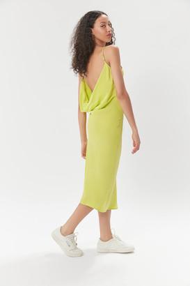 Aila Blue Diana Cowl-Back Slip Dress