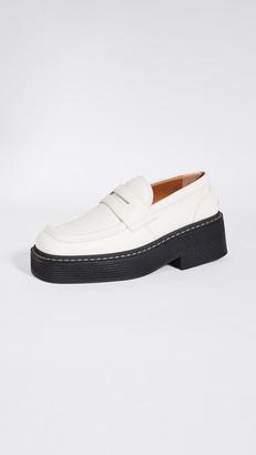 Marni Mocassino Millerighe Platform Loafers