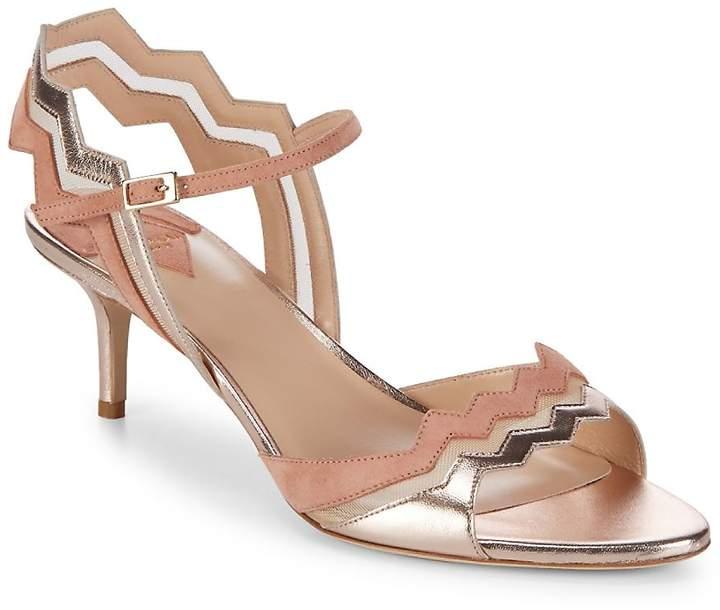 Aperlaï Women's Zig-Zag Strap Heels