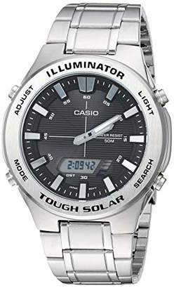 Casio Men's Tough Solar Quartz Watch with Stainless-Steel Strap