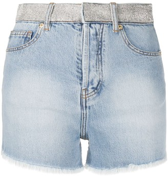 Alexandre Vauthier Raw Edge Denim Shorts