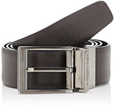 Ermenegildo Zegna Men's Reversible Leather Belt-DARK BROWN