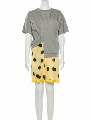 Marc by Marc Jacobs Printed Mini Dress Grey