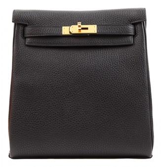 Hermã ̈S HermAs Kellyado Black Leather Backpacks