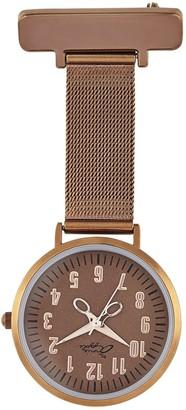Bermuda Watch Company Annie Apple Rose Gold/Coffee Mesh Nurse Fob Watch