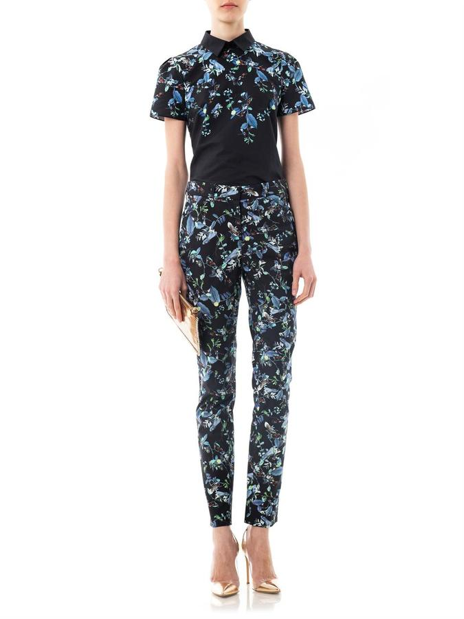 Erdem Rainforest reflections-print blouse