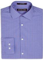 Michael Kors Boys' Pastel Micro Plaid Dress Shirt - Sizes 8-20